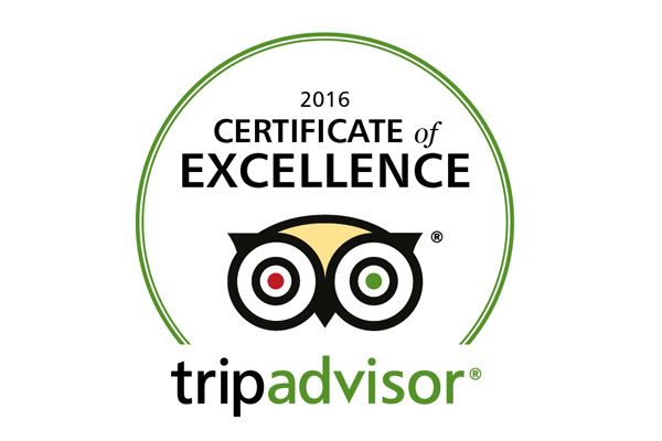Hopewell Lodge Trip Advisor Certificate of Excellence 2016