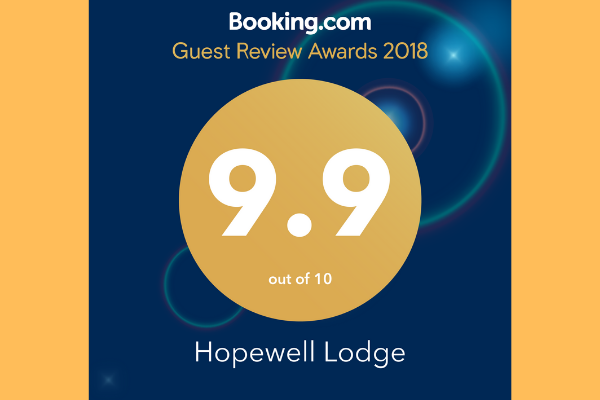 Booking.com Guest Review Award 2018 Hopewell Lodge, NZ
