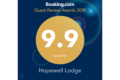 2018 Booking.com Guest Review Award for Hopewell Lodge