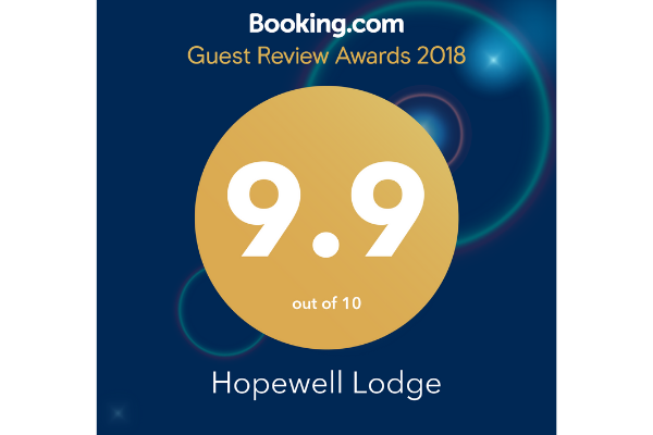 Booking Com 2018 Guest Review Award | Hopewell Lodge
