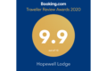2019 booking.com award for Hopewell Lodge in NZ
